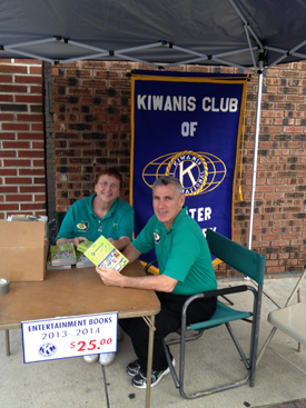 Woodbury Car Show 2013 Kiwanis Booth
